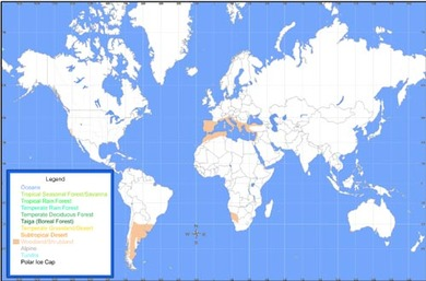 Chaparral World Map.Location Chaparral Awareness Organization